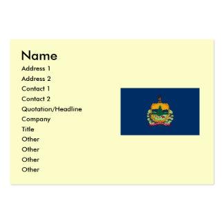 Mapa de Vermont y bandera del estado Tarjetas De Visita Grandes