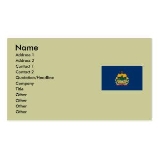 Mapa de Vermont y bandera del estado Tarjetas De Visita