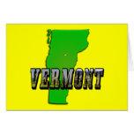 Mapa de Vermont y texto de la imagen Tarjeton
