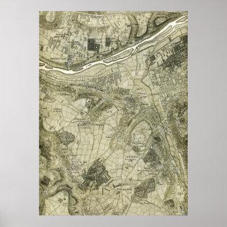 Mapa de Versalles 1764 Póster