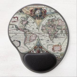 Mapa de Viejo Mundo 1630 Alfombrilla De Ratón Con Gel