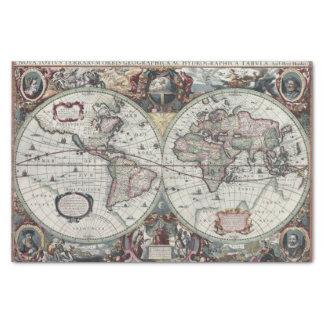 Mapa de Viejo Mundo 1630 Papel De Seda Pequeño