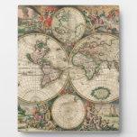 Mapa de Viejo Mundo 1689 Placas