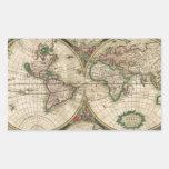 Mapa de Viejo Mundo 1689 Rectangular Pegatinas