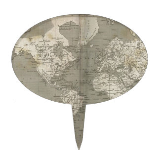 Mapa de Viejo Mundo 1820 Decoraciones De Tartas