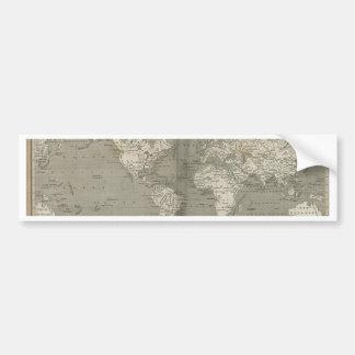 Mapa de Viejo Mundo 1820 Etiqueta De Parachoque