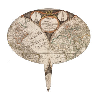 Mapa de Viejo Mundo antiguo 1799 Figura Para Tarta