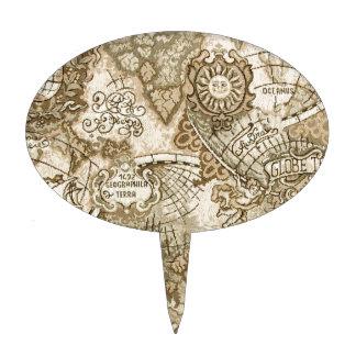 Mapa de Viejo Mundo antiguo Figura Para Tarta