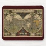 Mapa de Viejo Mundo antiguo Alfombrilla De Raton