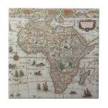 Mapa de Viejo Mundo antiguo de África, C. 1635 Teja