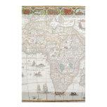 Mapa de Viejo Mundo antiguo de África, C. 1635 Papeleria
