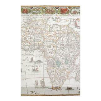 Mapa de Viejo Mundo antiguo de África, C. 1635 Papeleria Personalizada