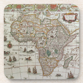Mapa de Viejo Mundo antiguo de África, C. 1635 Posavasos