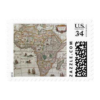 Mapa de Viejo Mundo antiguo de África, C. 1635 Timbres Postales