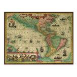 Mapa de Viejo Mundo antiguo de las Américas, 1606