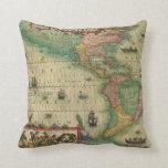 Mapa de Viejo Mundo antiguo de las Américas, 1606 Almohadas