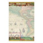 Mapa de Viejo Mundo antiguo de las Américas, 1606 Papelería