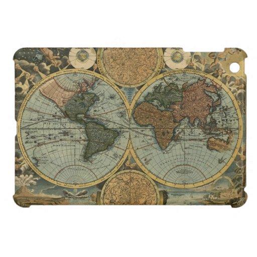 Mapa de Viejo Mundo antiguo del vintage