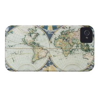 Mapa de Viejo Mundo antiguo del vintage, 1666 por Funda Para iPhone 4 De Case-Mate