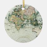Mapa de Viejo Mundo antiguo del vintage por las su Ornato