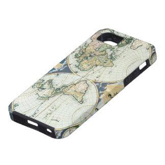 Mapa de Viejo Mundo antiguo del vintage por las su iPhone 5 Carcasa