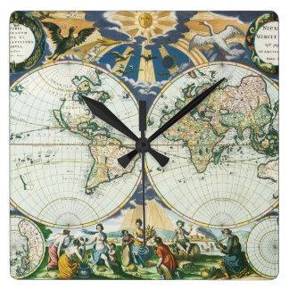 Mapa de Viejo Mundo antiguo del vintage por las su Relojes