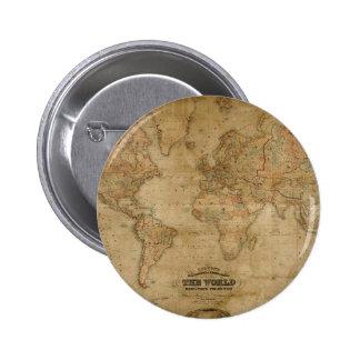 Mapa de Viejo Mundo antiguo en un Pin