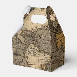 Mapa de Viejo Mundo antiguo histórico del vintage Caja Para Regalos De Fiestas
