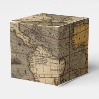 Mapa de Viejo Mundo antiguo histórico del vintage Cajas Para Regalos