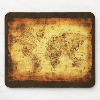 Mapa de Viejo Mundo antiguo Mousepad Tapete De Raton