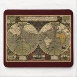 Mapa de Viejo Mundo antiguo Tapetes De Raton