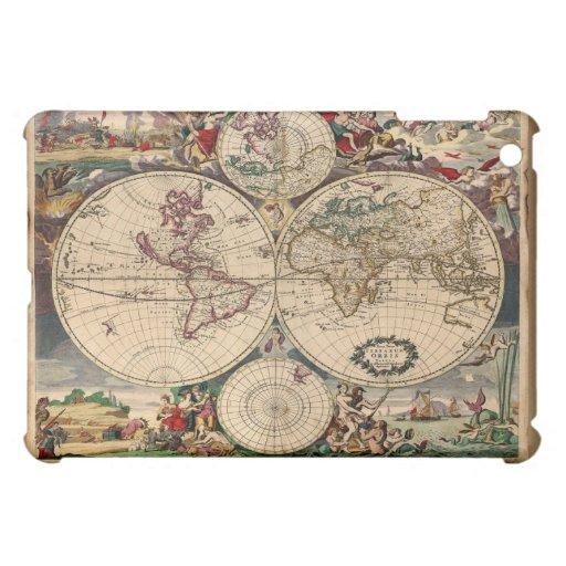 Mapa de Viejo Mundo clásico de Justus Danckert iPad Mini Cobertura