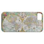 Mapa de Viejo Mundo con las ilustraciones colorida iPhone 5 Carcasa