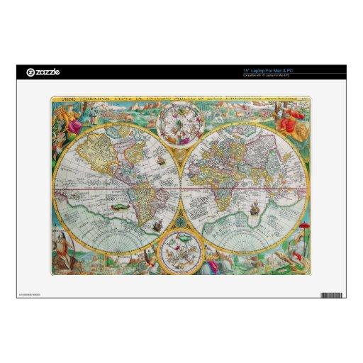 Mapa de Viejo Mundo con las ilustraciones colorida Portátil Skin