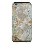 Mapa de Viejo Mundo con las ilustraciones Funda De iPhone 6 Barely There