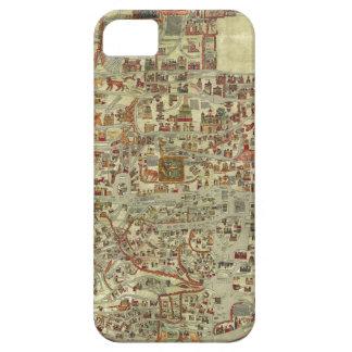 Mapa de Viejo Mundo de Ebstorfer iPhone 5 Case-Mate Cobertura