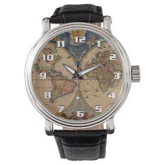 Mapa de Viejo Mundo de mirada clásico hermoso del Relojes De Mano