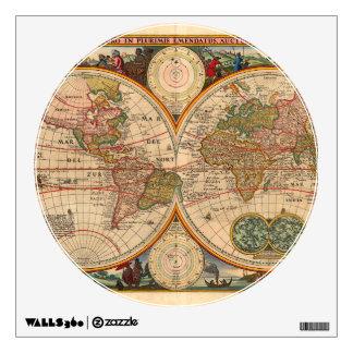 Mapa de Viejo Mundo de Nicolás Visscher Vinilo Adhesivo