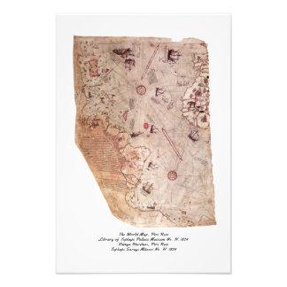 Mapa de Viejo Mundo de Piri Reis Cojinete