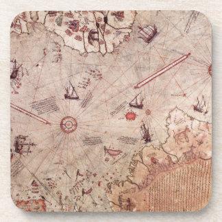 Mapa de Viejo Mundo de Piri Reis Posavasos De Bebidas