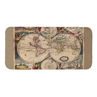 Mapa de Viejo Mundo del vintage Bolsillo Para iPhone
