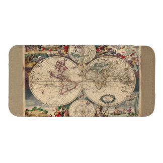 Mapa de Viejo Mundo del vintage Bolsillo Para Móvil