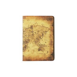 Mapa de Viejo Mundo del vintage de los Arty Porta Pasaportes