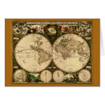 Mapa de Viejo Mundo del vintage Felicitacion