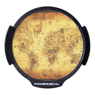 Mapa de Viejo Mundo del vintage Sticker LED Para Ventana
