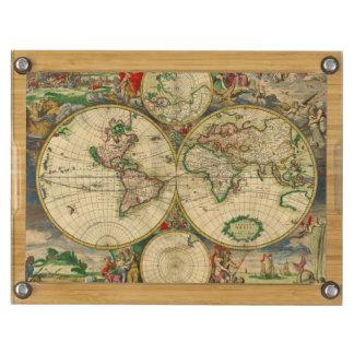Mapa de Viejo Mundo del vintage