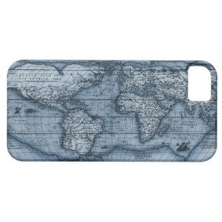 Mapa de Viejo Mundo en azul iPhone 5 Funda