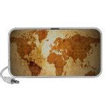 mapa de Viejo Mundo en el papel arrugado vintage iPhone Altavoces