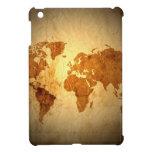 mapa de Viejo Mundo en el papel arrugado vintage iPad Mini Cobertura