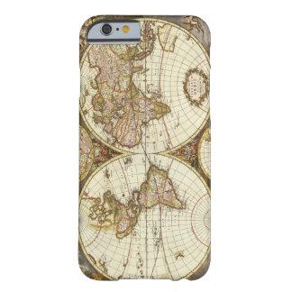 Mapa de Viejo Mundo Funda De iPhone 6 Barely There